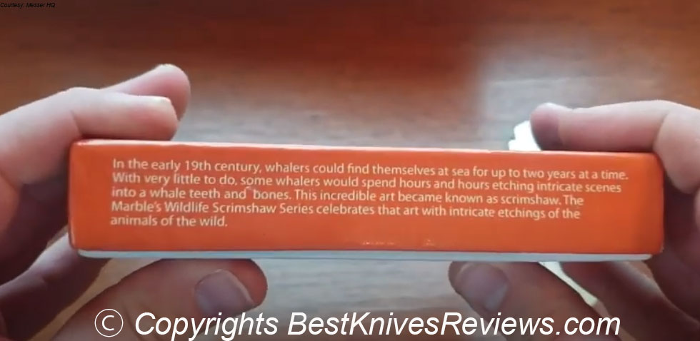 Marbles Knives, Wildlife Scrimshaw, GrandDaddy, grand daddy, Barlow, Raccoons, Knife Review, MR255, Grand Daddy Barlow Raccoons Knife, packaging