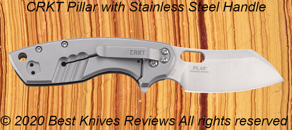 Stainless Steel Knife Handle, stainless steel handle, knife handle stainless steel, guide, CRKT Pilar