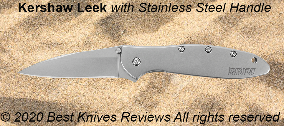 Stainless Steel Knife Handle, stainless steel handle, knife handle stainless steel, guide, kershaw Leek,