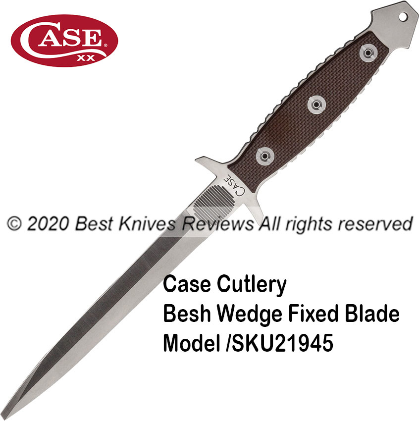 Case Cutlery Besh Wedge Fixed Spear Point blade