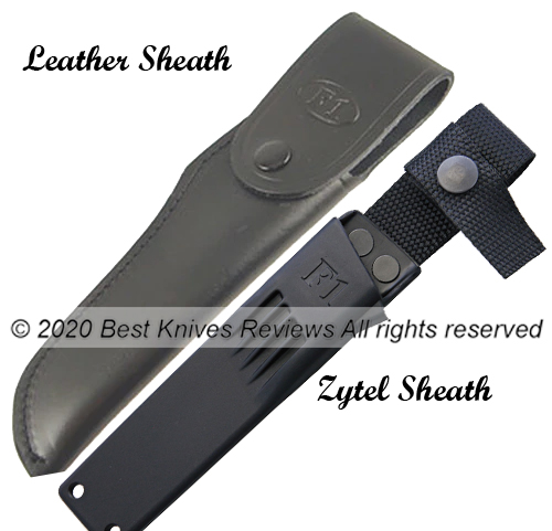 Fallkniven F1z Leather Sheath and Zytel Sheath