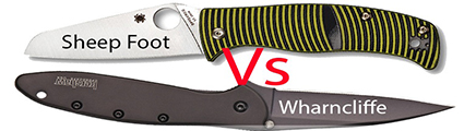 Wharncliffe Knife, Wharncliffe Knife & Sheepsfoot Knife, Sheepsfoot Knife