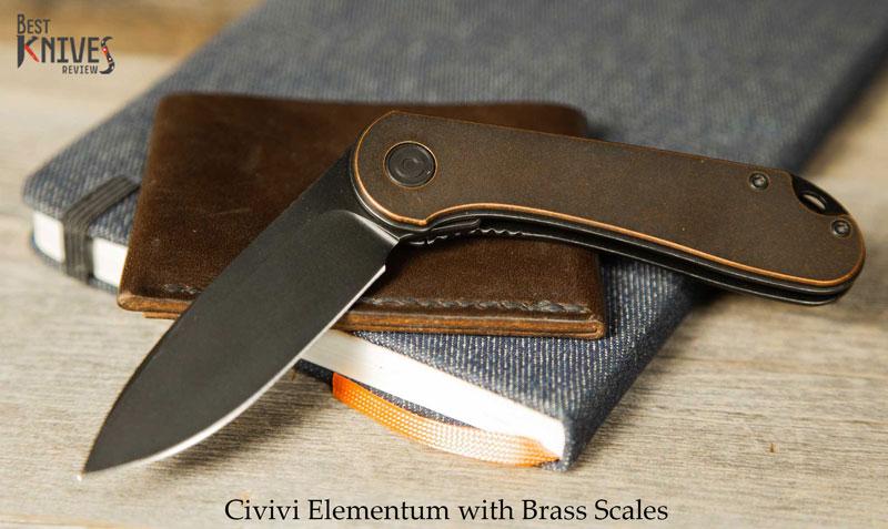 Civivi Elementum brass scales Review