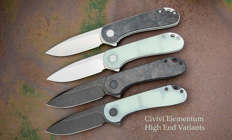 Civivi Elementum high end variants