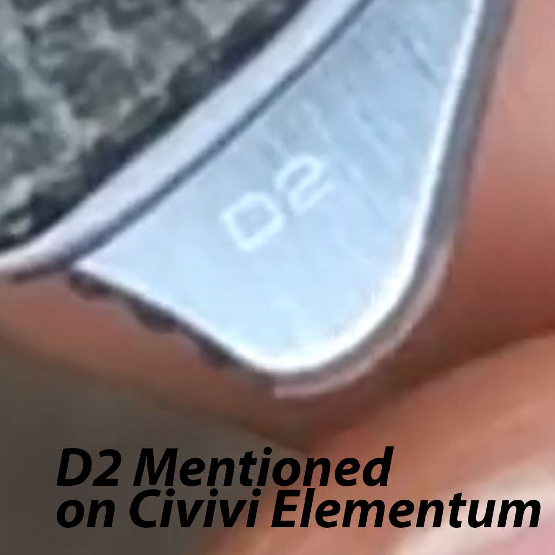 D2 on flipper of CIVIVI Elementum